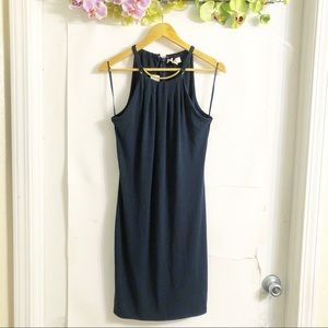 MICHAEL KORS | NWT NEW NAVY AND GOLD MIDI DRESS